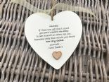 Shabby personalised Gift Chic Heart Plaque Special BEST FRIEND ANY NAMES Gift - 332885992539